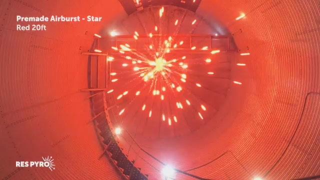 Airburst Star Red 20ft