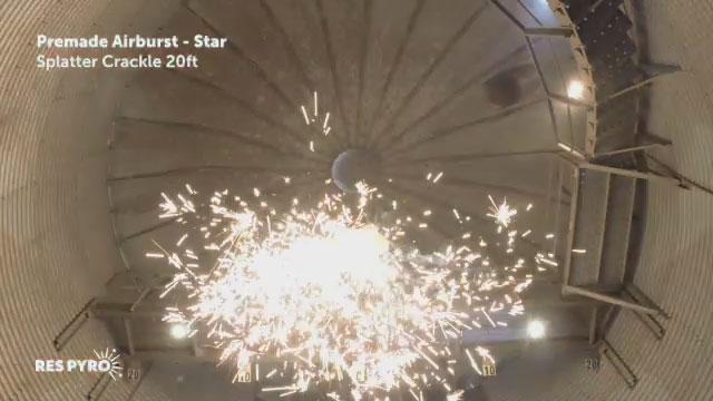 Airburst Star Splatter Crackle 20ft